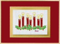 Holiday Candles - 2013 Brett Collection Card