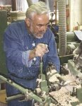Christian Ulbricht operates a lathe at the factory in Lauingen.