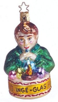 A Master Glassblower is depicted on this 2003 Inge-glas ornament, Heinz's Apprentice