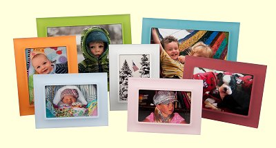 Prisma Photo Frames by Bella Moulding - Clearly Colorful!  Collections include the original Perla, Premio, Metallic Premio, Sea Premio and Arci Rays