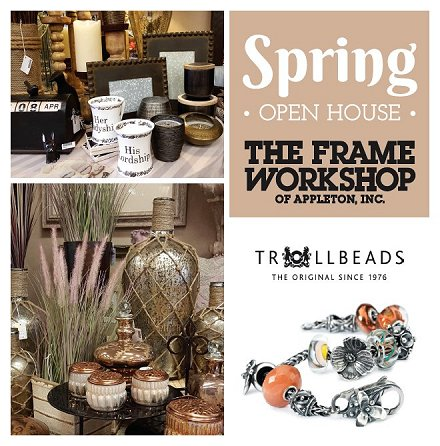 Spring Open House at The Frame Workshop in Appleton, Wisconsin