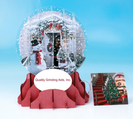 Quality Grinding Aids of Oklahoma was a corporate client of Snow Globe cards from The Frame Workshop in 2012