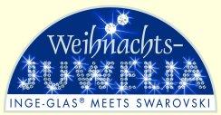 Swarovski Crystals adorn Inge-glas Ornaments