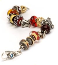 2006 Red Curved Trollbead Bracelet
