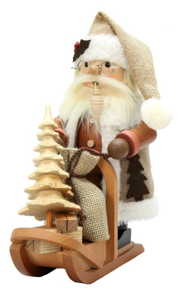 Santa on Sleigh<br>Natural Ulbricht Smoker