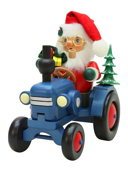 Santa riding Tractor<br>2017 Ulbricht Smoker