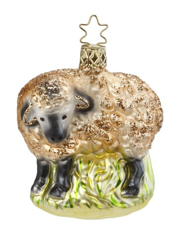 Gentle Ewe-Golden Lamb<br> 2013 Inge-glas ornament