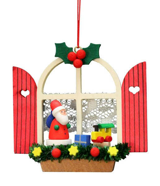 Advent Window Santa<br>Ulbricht Ornament