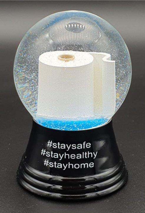 Toilet Paper #Staysafe Small<br>Vienna Snow Globe