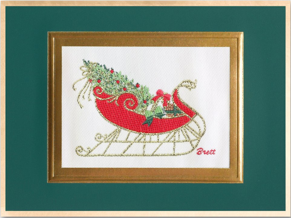 Vintage Sleigh<br>Brett Card Collection 2018