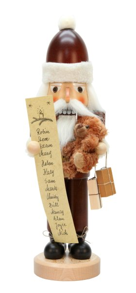 Natural Santa w/ List<br>2016 Ulbricht Nutcracker