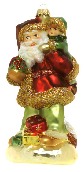 Hungarian Santa with Children on his shoulders