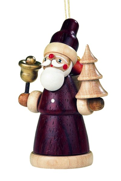 Natural Santa Claus<br>Müller Wooden Ornament