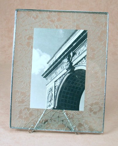 7x9 Etched Photo Frame<br>Bedford Downing Glass