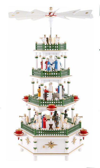 Flath 4 Tiered Candle<br> Pyramid - Musical