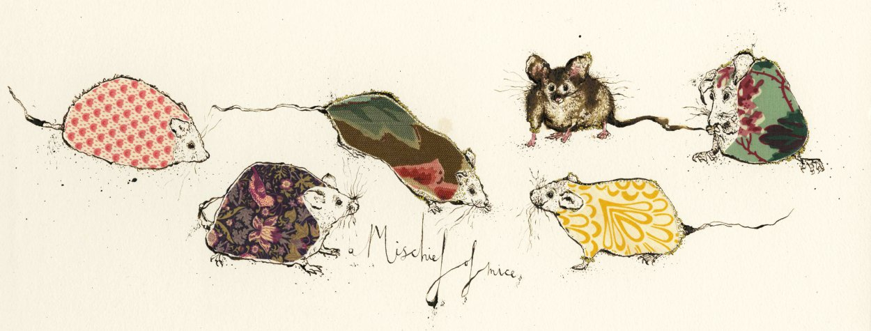 A Mischief of Mice<br> Anna Wright Long Card