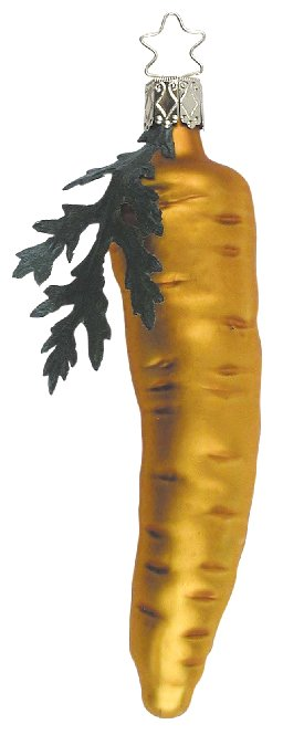 Carrot with Greens<br>Inge-glas Ornament