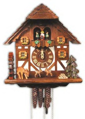 Schneider One Day Chalet Clock