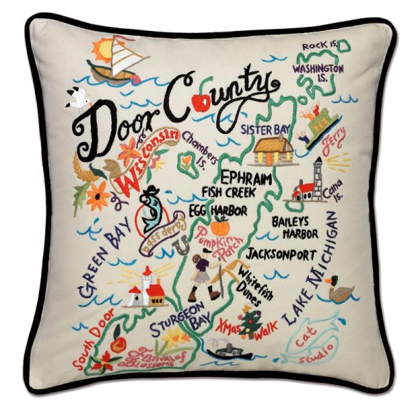 Door County - Wisconsin<br>Pillow by catstudio