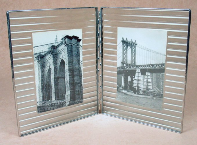 Dbl 7x9 Reed Photo Frame<br>Bedford Downing Glass