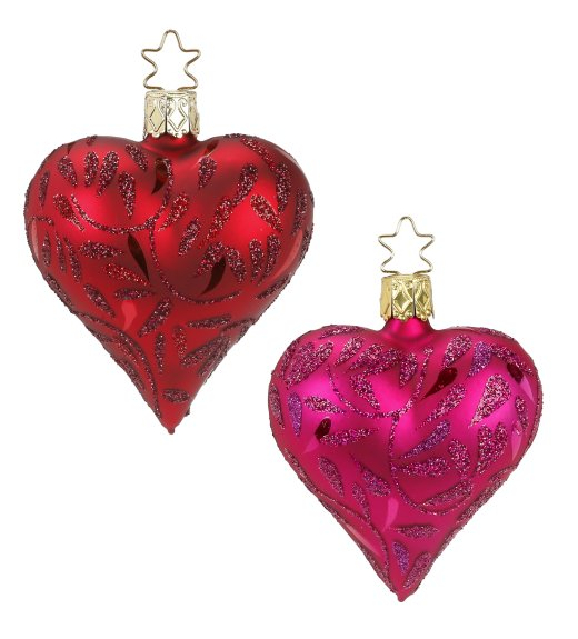 Delights - Shimmering Leaves<br>Red & Pink Hearts
