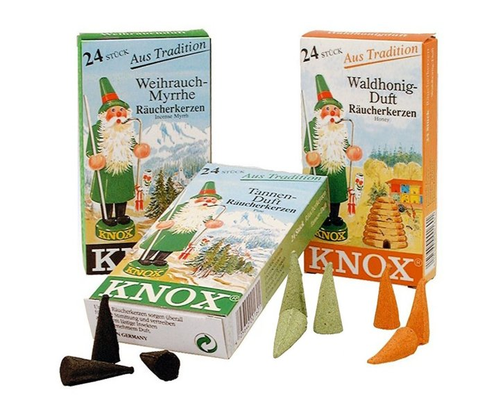 Knox Incense Cones<br>Assorted Boxes of 24 Cones