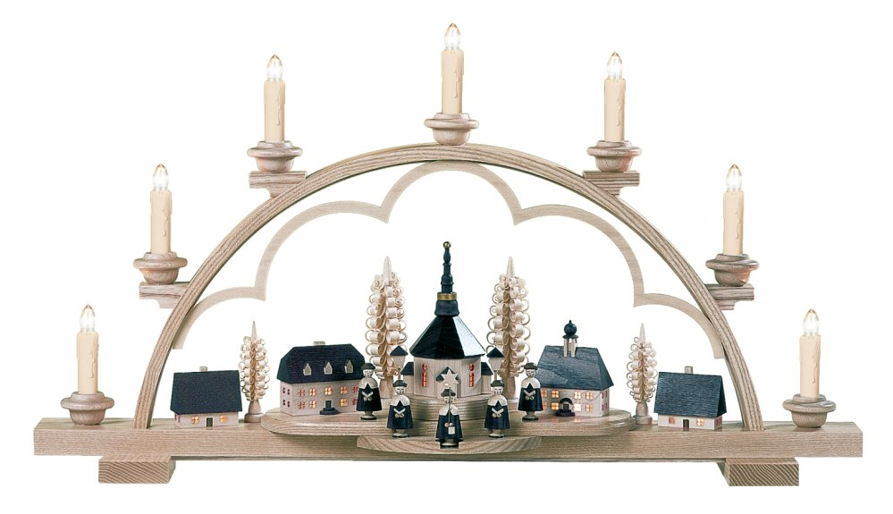 Seiffen Village Candle Arch<br>Müller Electrified