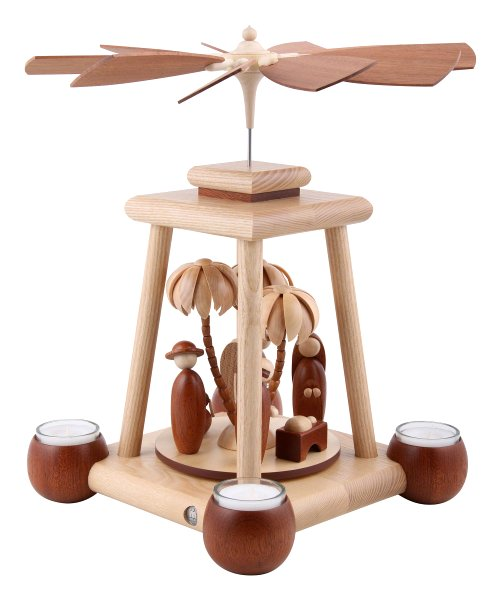Müller Natural Single Tiered<br>Tealight Pyramid