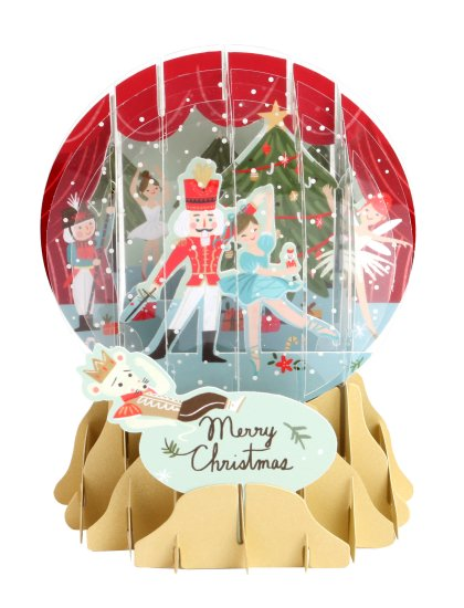 Nutcracker<br>2016 Pop-Up Snow Globe Card