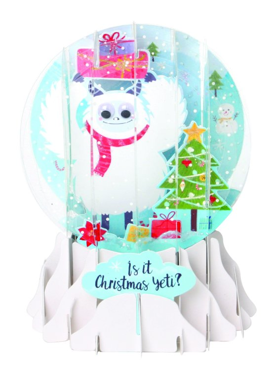 Presents Yeti?<br>2017 Pop-Up Snow Globe Card