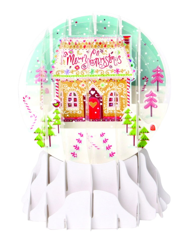 Candy Houses<br>2017 Pop-Up Snow Globe Card