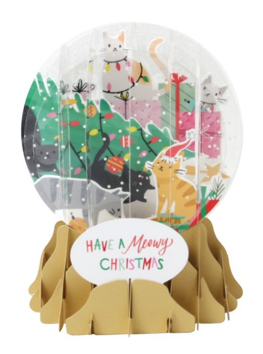 Trimming Trouble<br>2018 Pop-Up Snow Globe Card