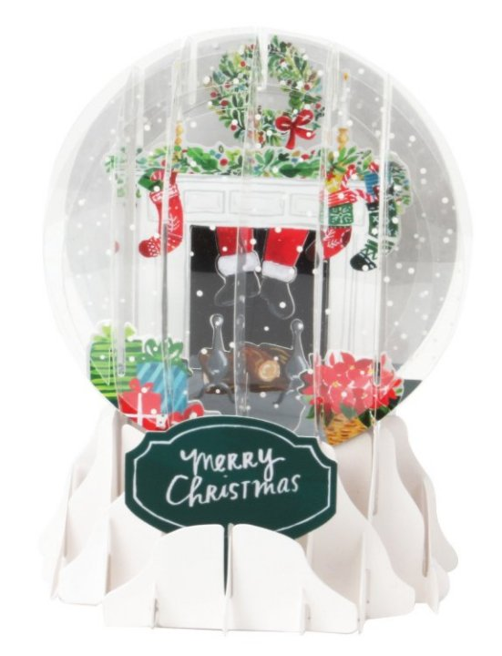 Holiday Mantel<br>2018 Pop-Up Snow Globe Card