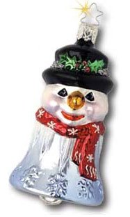 Snowman Bell 2002<br>Dated Inge-glas Ornament