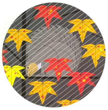 Squirrel in a Squall<br>Charley Harper Serigraph