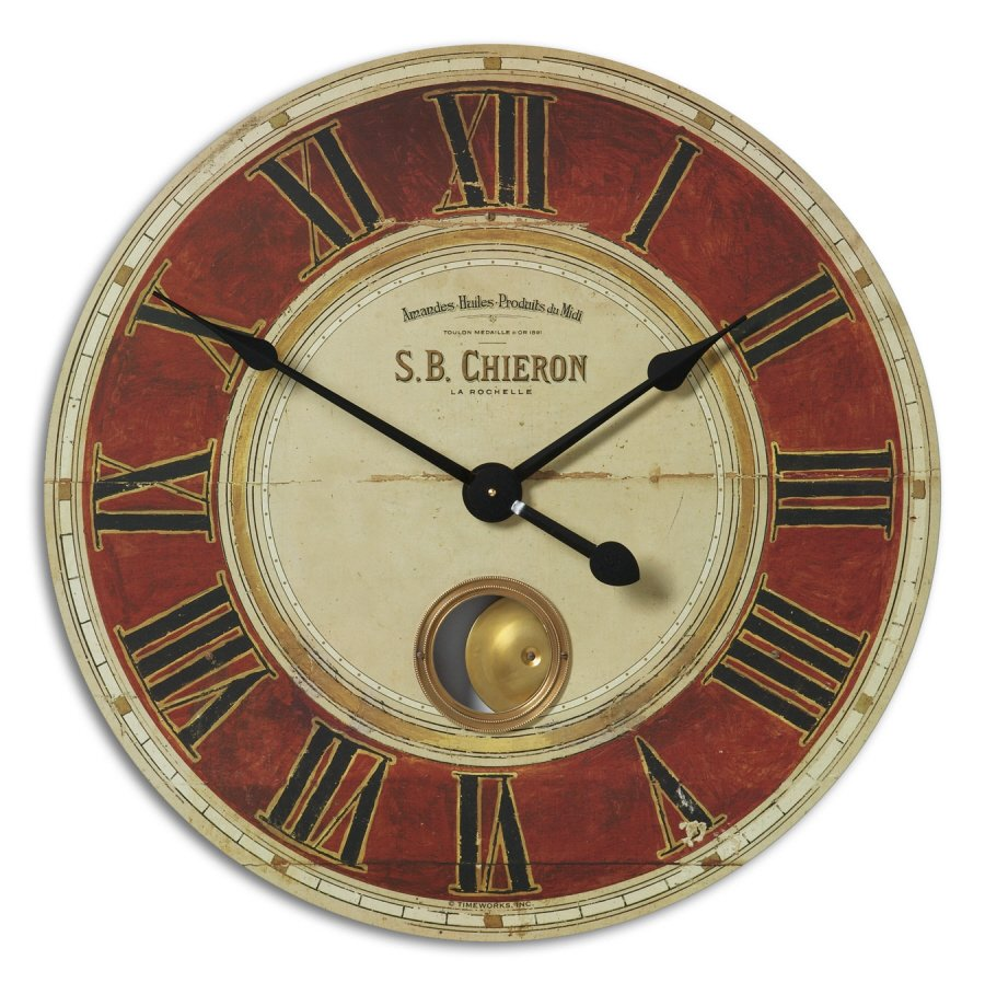 S.B. Chieron Classic 30 Inch Wall Clock