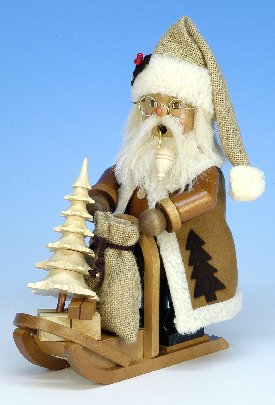 Christian Ulbricht Natural Santa with Sleigh Smoker