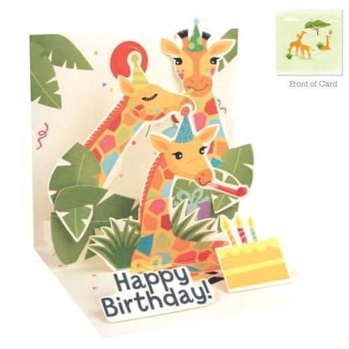 Giraffes<br> Treasures Pop-Up Card