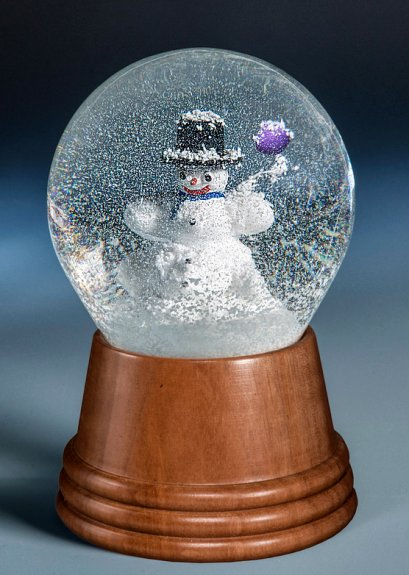 Snowman with Balloon<br> Vienna Snow Globe