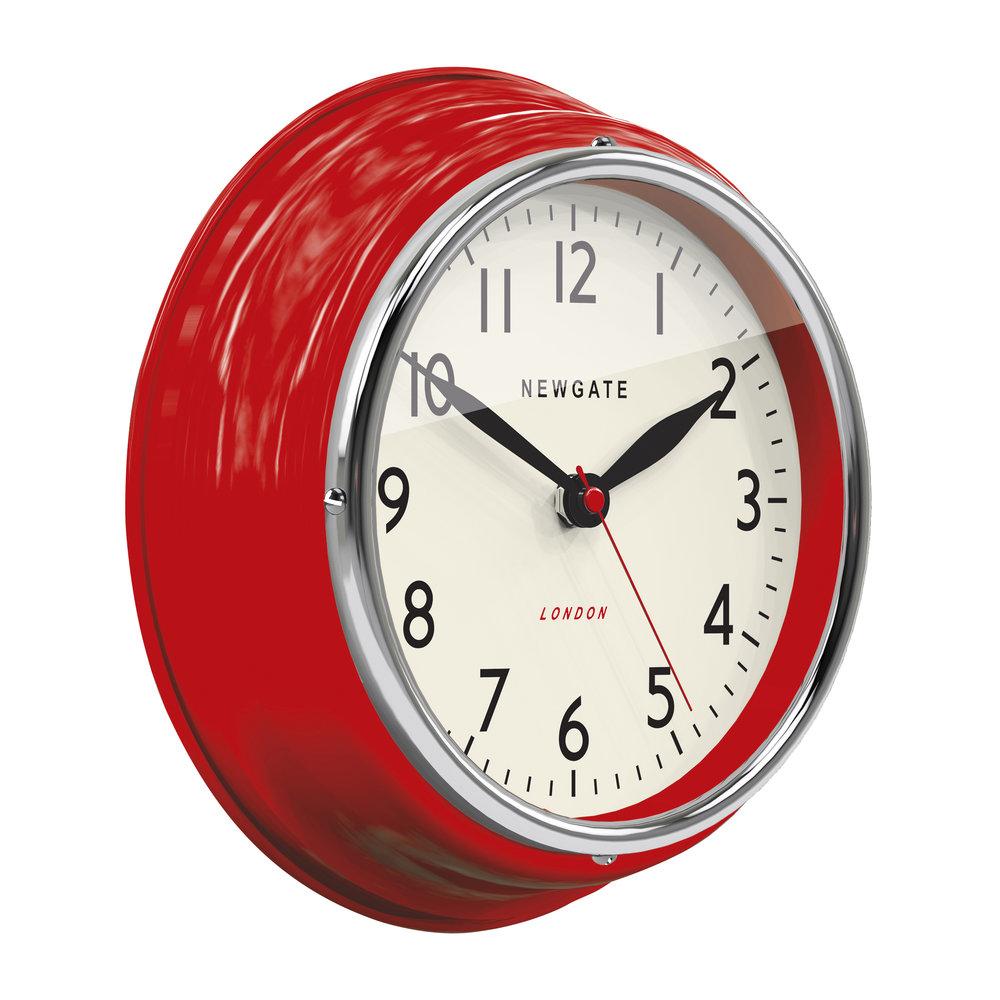 Mini Cookhouse Clock in Red<br>design by Newgate
