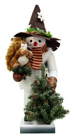 Snowy with Squirrel<br> 2014 Ulbricht Nutcracker