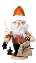 Santa w/Tree & Gifts<br> Natural Ulbricht Smoker