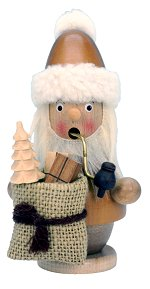 Santa with Sack - Small<br>Natural Ulbricht Smoker