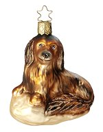 Dachsi-Long Haired Dachshund<br>Inge-glas Ornament