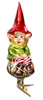 Elf Himself<br>2017 Clip-on Inge-glas Ornament