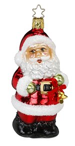 Ho Ho Holiday<br>Inge-glas Santa Ornament