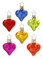 Dot City 3 cm Hearts<br>6 Assorted Colors