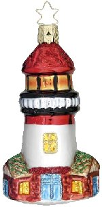 Guiding Light - Lighthouse<br>Inge-glas Ornament