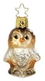 Whooo? Baby Owl in Forest<br>Inge-glas Ornament
