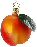 Fuzzy Peach<br>Inge-glas Ornament